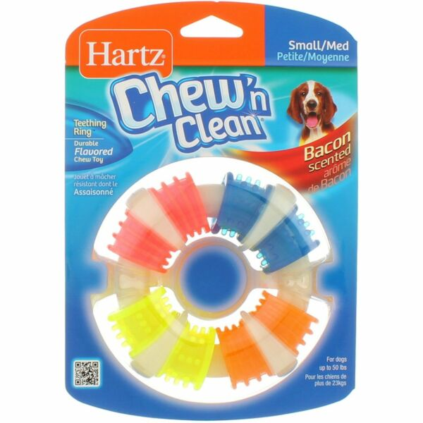 Hartz Chew N Clean Teething Ring For Dogs Small Medium $11.11