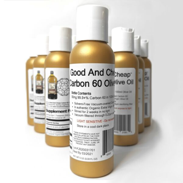 Carbon 60 Olive Oil 90mg 100ml Organic C60 Supplement 99.9% Solvent Free C60 $23.99