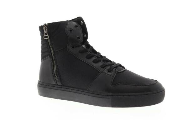 Creative Recreation Alteri CR0760001 Mens Black Zipper High Top Sneakers Shoes