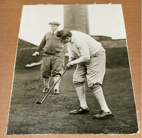 ORIGINAL BABE RUTH AUTOGRAPHED TYPE 1 PHOTO - GOLFING IN 1926 - JSA LETTER