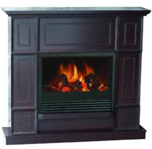 Fireplace Heater Electric 43.31 Inch Dark Chocolate Child Lock LED Flame Effect