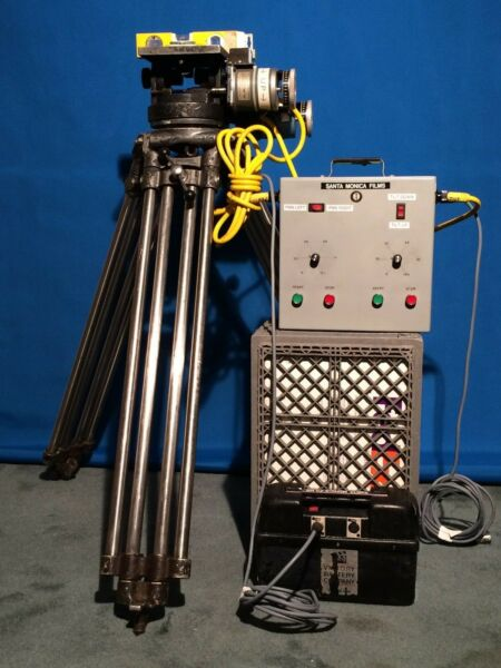 MITCHELL CAMERA TRIPOD-HEAD MOTORIZED PAN & TILT 24 VDC. ZEISS COOKE ARRI CANON