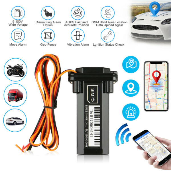 Car Vehicle Motorcycle GSM GPS Tracker Locator Global Real Time Tracking Device $8.48