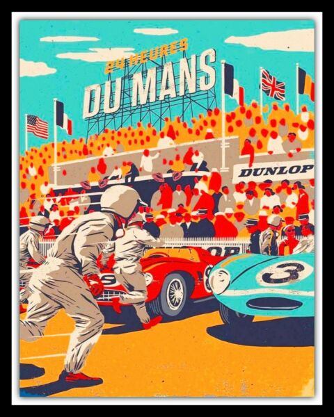 LE MANS CAR RACE GARAGE WORKSHOP METAL PLAQUE TIN SIGN OTHER ONES ARE LISTED 003