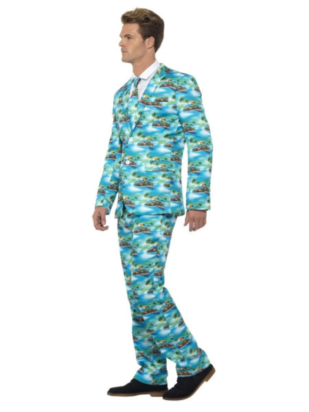 Aloha Stand Out Suit Hawaiian Party Island Printed Fancy Dress Costumes AU $94.95