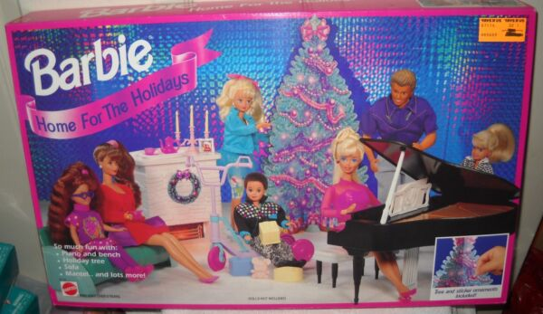 #9917 RARE NRFB Mattel Toys R Us Barbie Home For the Holidays Playset (No Dolls)