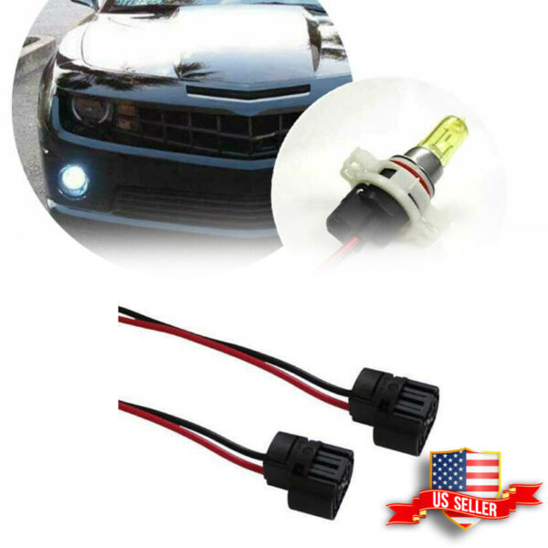 2Pcs Female Plug Connector Wiring Pigtail Harness For Fog Lights H16 5202 PSX24W