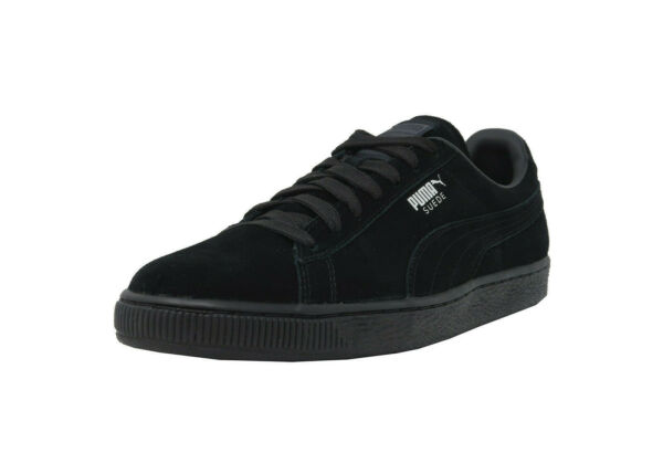 PUMA Suede Classic Black Zinnia Leather Lace Up Sneakers Fashion Men Shoes