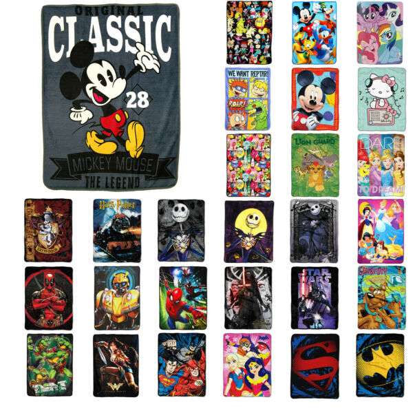 New Entertainment Characters Super Soft Plush Large Throw Blanket 46