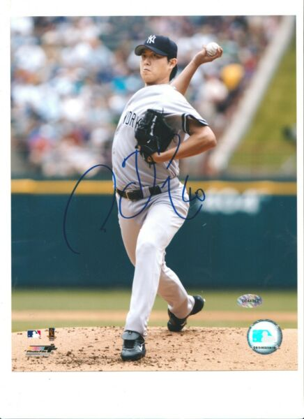 Chien Ming Wang Vertical Home Pitching 8x10 Color Autographed Signed Photo $49.99