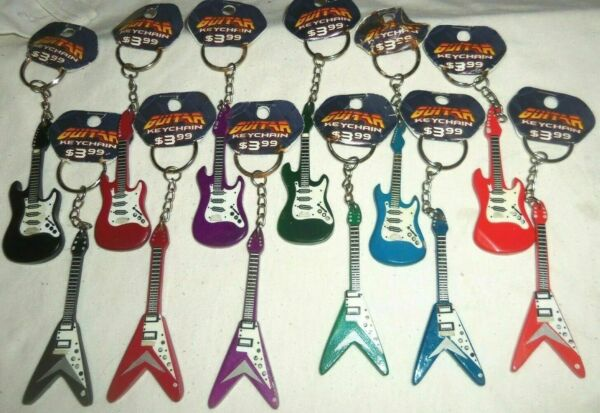 Wood Electric Guitar KeyChain PLEASE Select Color Model From Dropdown Below $4.99