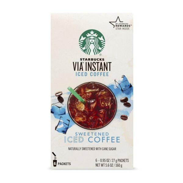 Starbucks VIA Instant Sweetened Iced Coffee 6 0.95oz packets 5.6 oz 6 Count