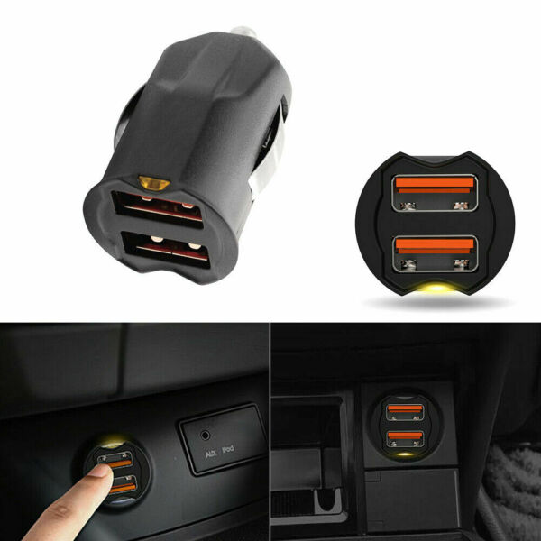 Universal 2.1A Dual USB Car Phone GPS Charger Adapter 2-Port 12 24V Accessories