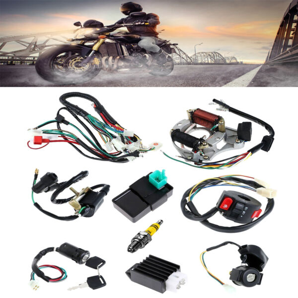CDI Wire Harness Stator Assembly Wiring Fit 50 70 90 110 125cc ATV Electric Quad $33.99