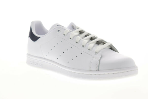 Adidas Stan Smith Mens White Synthetic Low Top Lace Up Sneakers Shoes