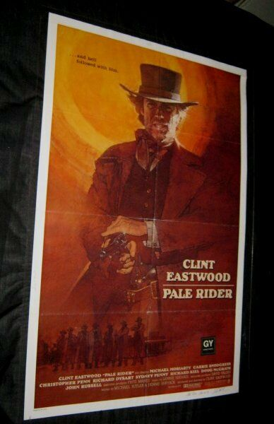 Original PALE RIDER International OS SIGNED BY ARTIST DAVID GROVE Deceased