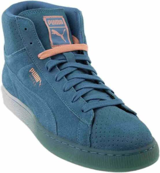Puma Suede Mid Classic + Pink Dolphin Sneakers - Blue - Mens