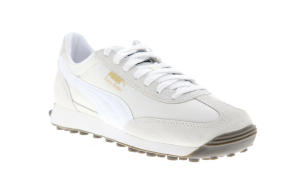 Puma Easy Rider 36312913 Mens White Suede Classic Lace Up Low Top Sneakers Shoes