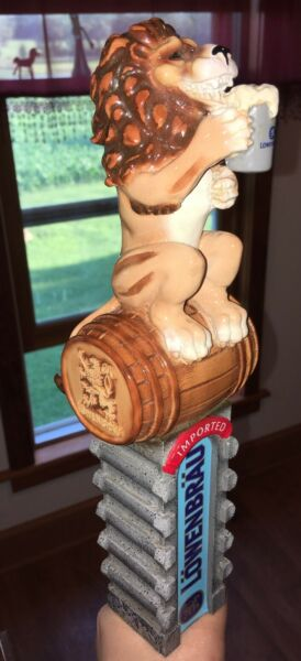 Lowenbrau Lion's Brew *Lion on Barrel 3D Figural Beer Tap Handle* Munich Germany