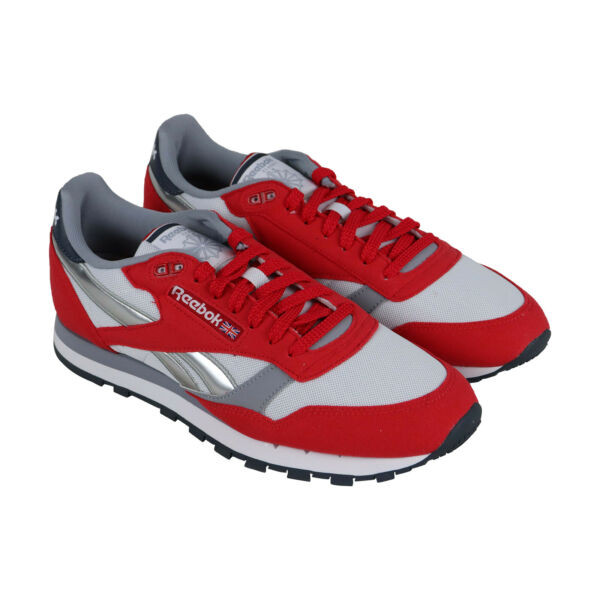 Reebok Classic Leather CN3778 Mens Red Casual Lace Up Low Top Sneakers Shoes 9