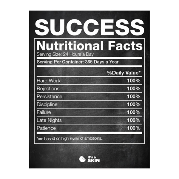 Success Nutritional Facts | Motivational Poster, Great wall art for home décor