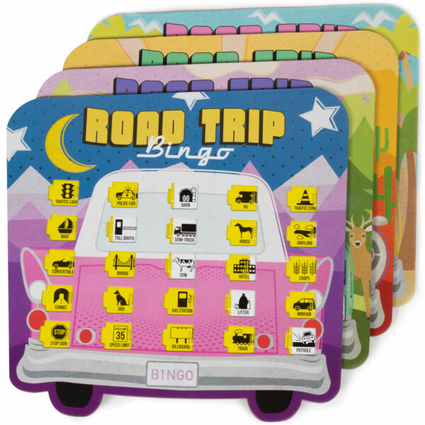 Road Trip Bingo Travelling Board Game for Families and Kids on Road Trips