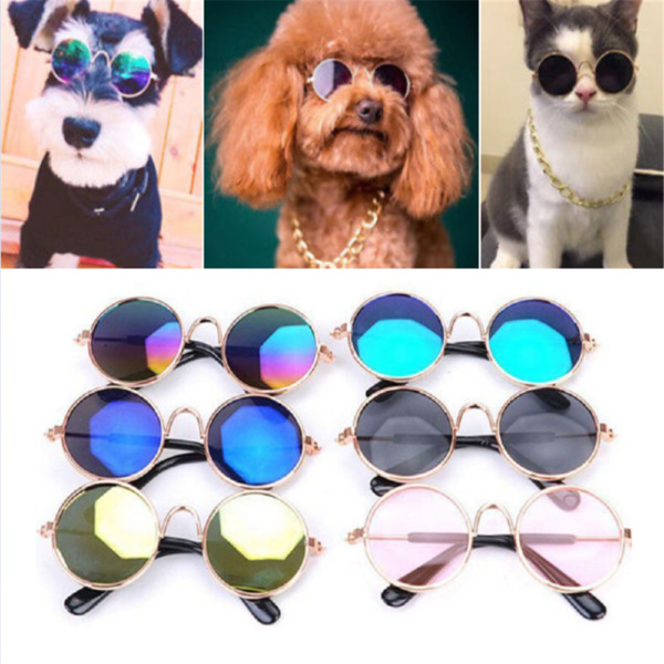 Small Cat Dog Sunglasses Glasses Costume Cute Pet Toy Kitten Cosplay Props Funny $2.09