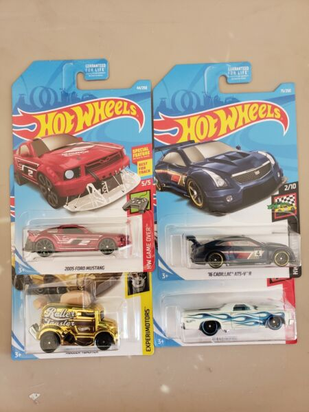 2019 HOT WHEELS KROGER EXCLUSIVE ALL 4  GOLD TOASTER CADILLAC MUSTANG CAMINO