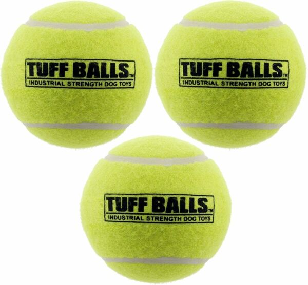 PetSport Large Tuff Ball 4'' Pack of 3Extra Thick Natural Rubber Walls