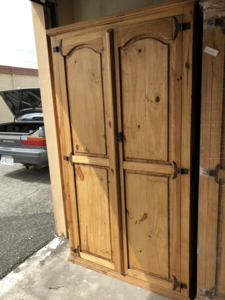 Rustic Solid Wood Armoire