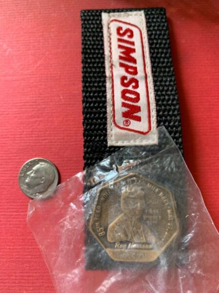 INDY INDIANAPOLIS 500 Metal PIT PASS 2001 Ray Harroux 1st Winner SIMPSON Holder