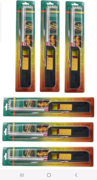 6PK BBQ Grill Lighter Refillable Butane Gas Candle Fireplace Kitchen Stove Long