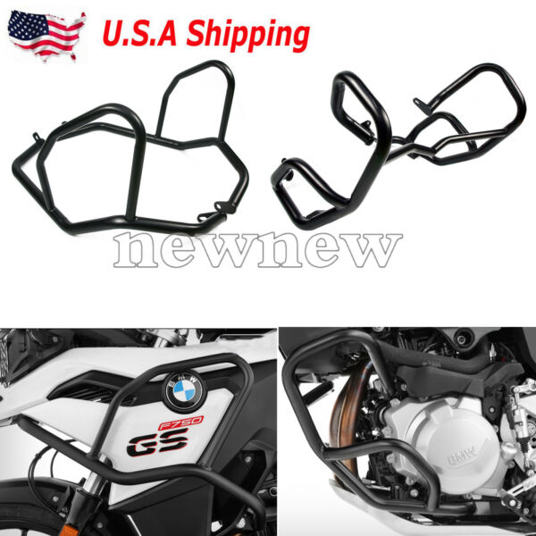 Highway Tank Engine Guard Crash Bars 1 Set Kit For BMW F750GS F850GS US SHIPPING