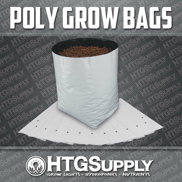GROW BAGS Black and White Poly Plastic 1235710 gallons 102550100 Count