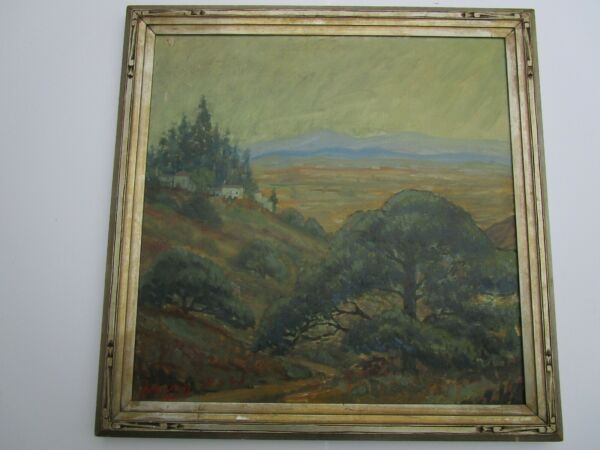 FINEST HENRY LOVINS PAINTING ANTIQUE  EARLY CALIFORNIA LANDSCAPE SAN FERNANDO