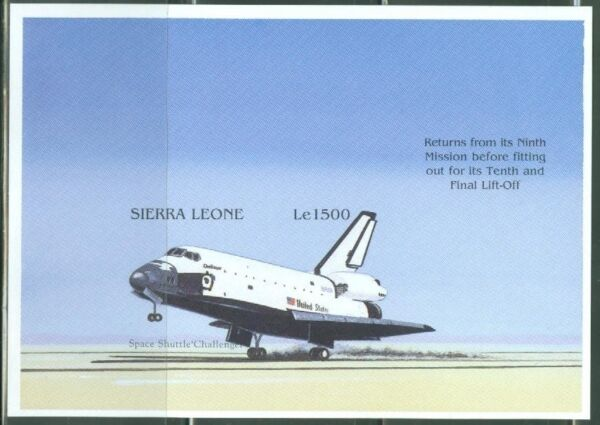 SIERRA LEONE  IMPERF SPACE SHUTTLE CHALLENGER SOUVENIR SHEET  SC#1905  MINT NH $39.95