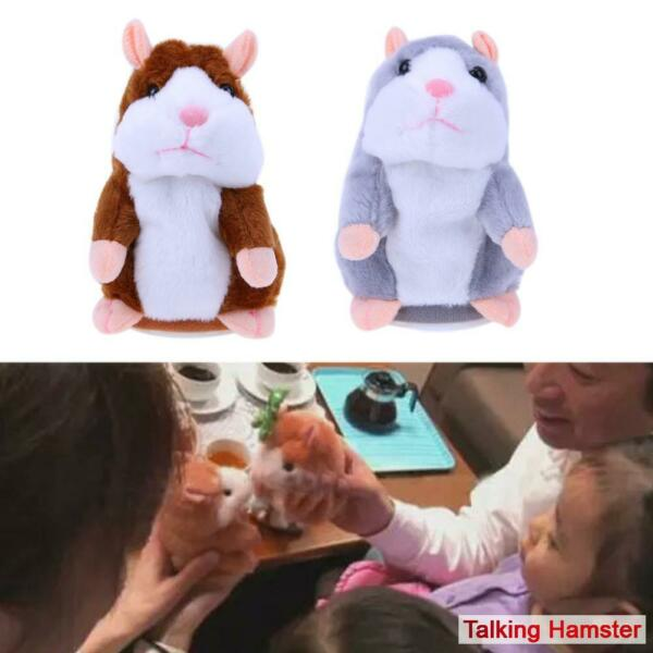 Funny Talking Hamster Plush Toy Repeats What You Say Mimicry Pet Interactive Toy