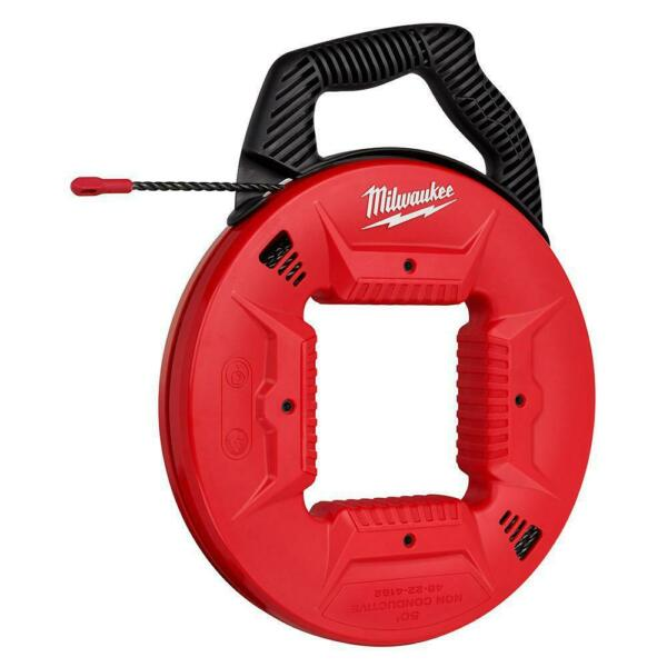 Milwaukee 48 22 4162 50 Feet Polyester Fish Tape Non conductive Tip $79.99