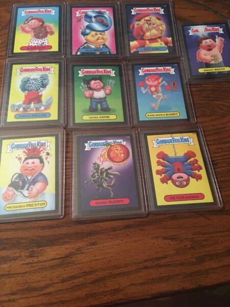 Garbage Pail Kids 2014 Full Bleed Canvas Texture Lot Of 10 Cards.