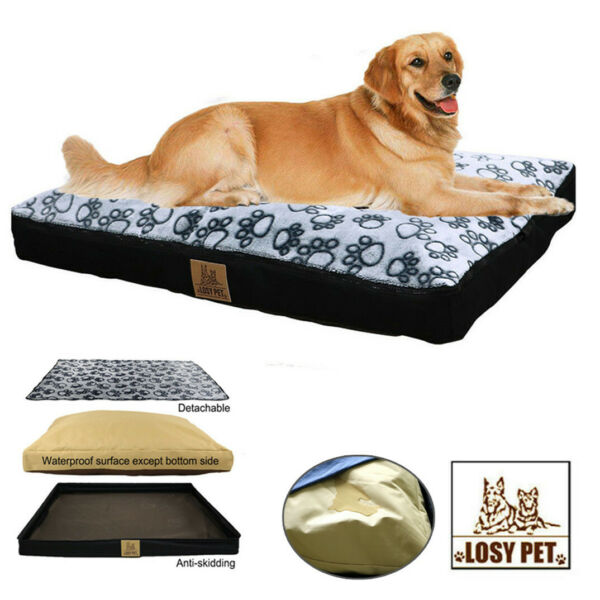 Pet Jumbo Dog Bed Soft Orthopedic Pet Bed w Removable Cover Living Room Couch