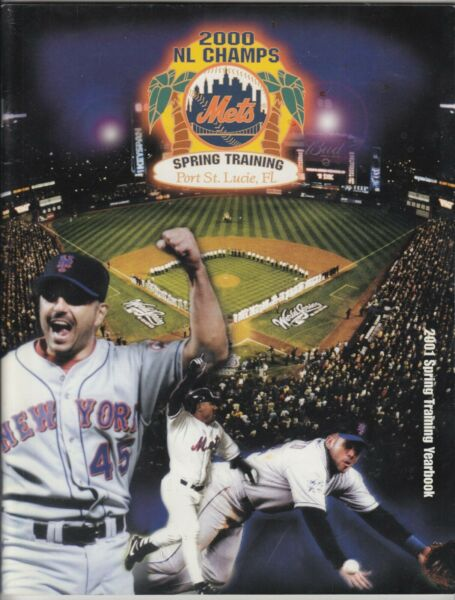 2001 NY METS OFFICIAL SPRING TRAINING YEARBOOK 2000 NL CHAMPS JOHN FRANCO COVER