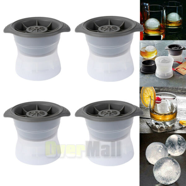 4Pcs Ice Ball Cube Maker Sphere Mold Round Jelly Mould Cocktail Whiskey US Ship $12.99