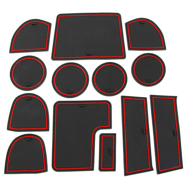 Custom Fit Cupholder Door Console Liner Accessories For 2015-2020 Subaru WRX Red