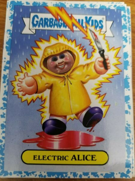 2019 GPK Garbage Pail Kids Revenge oh Horror-ible 1a Electric Alice BLUE 9899