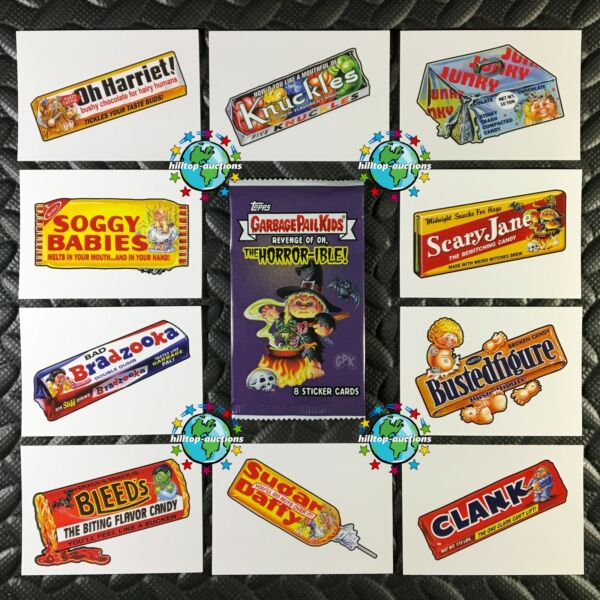 GARBAGE PAIL KIDS REVENGE OF OH THE HORROR-IBLE TRICK OR TREAT SET wacky package