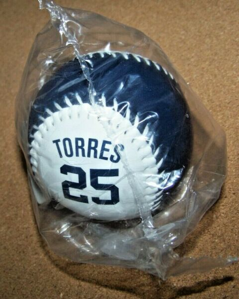 NY New York Yankees Gleyber Torres #25 blue & white baseball ball