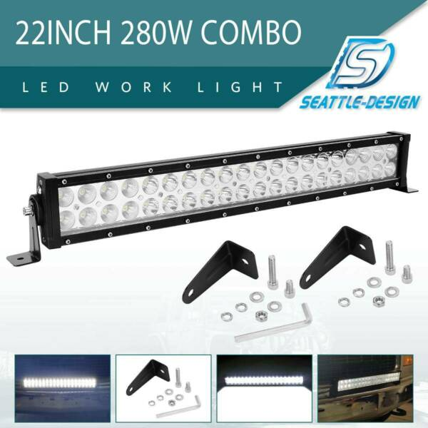 22inch 280W COMBO LED Light Bar Off-road Driving Lamp SUV Boat 4WD ATV Truck 24