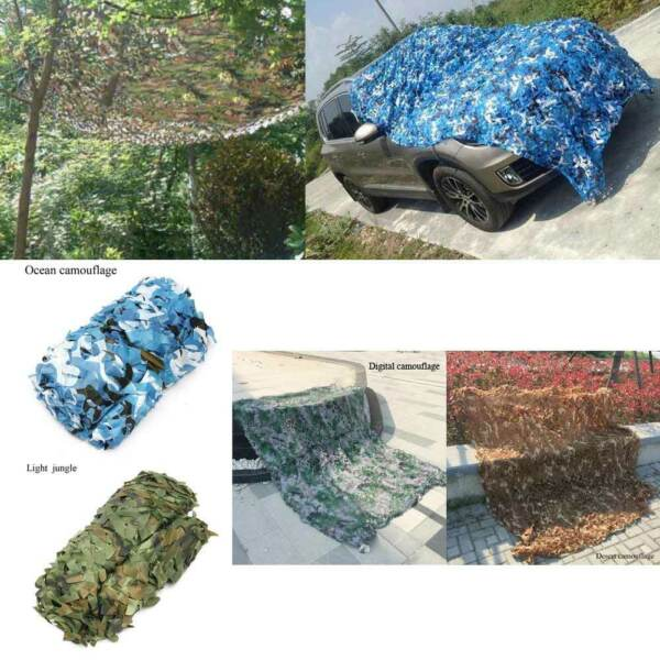 4x2M Camouflage Camo Net Cover Netting Hide Hunting Military Army Woodland Camp