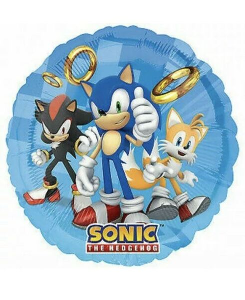 """2 Pc. Sonic the Hedgehog 18"""" Foil Mylar  Balloon Party Decoration"""
