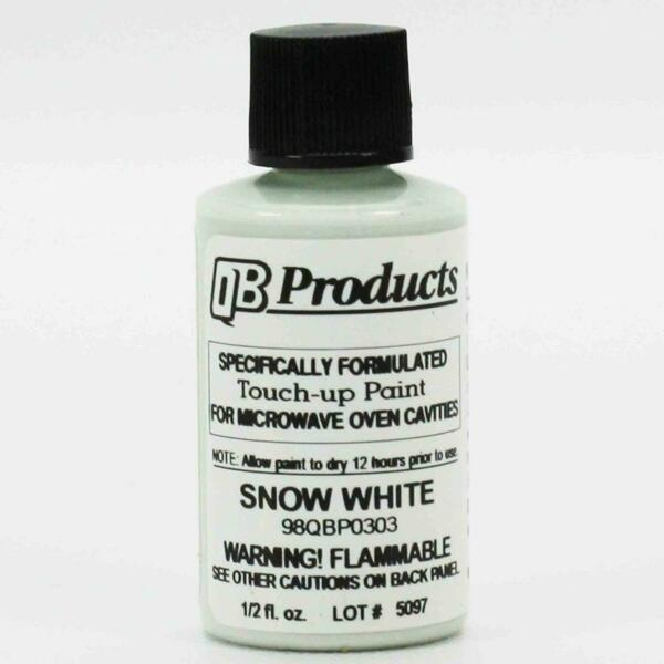 Snow Bright White Microwave Oven Cavity Touch-Up Paint 98QBP0303